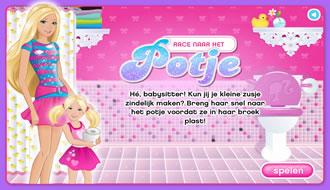 Barbie Race Naar Het Potje