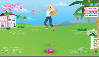 Barbie Jumping Fun Game