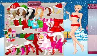 Barbie Christmas Night Dress Up