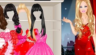 Barbie romantisch aankleden
